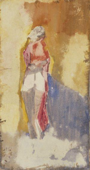Figur mit rotem Tuch