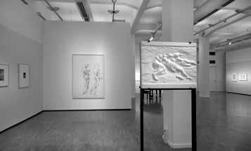 """Blick in die Ausstellung, """"Reinhard Minkewitz – Hymettosblau"""", Kunsthalle der Sparkasse Leipzig"""