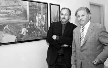 Galerie Hotel Leipziger Hof, 2007. Reinhard Minkewitz und der Schriftsteller Erich Loest (v. l.)